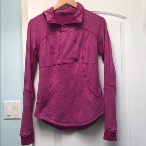 Lululemon Think Fast pink reversible half zip sz 8